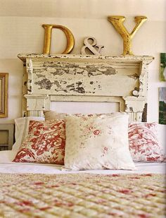 Little Lovables: Mantel DIY Headboard-check this blog out for more ideas