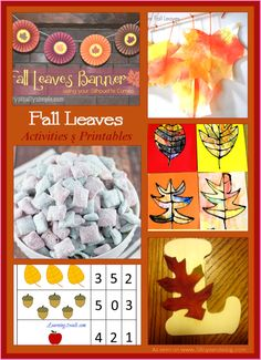 Fall Leaves activities and printables for kids