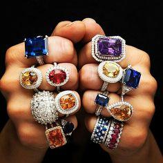 @the_jewell_closet - Stunning Diamond ,Yellow sapphires, Blue sapphire ,Tanzanites and ruby Rings.