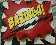 Big bang theory cake.