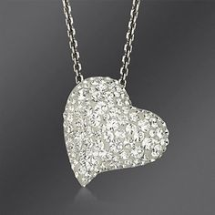 "Swarovski Crystal ""Alana"" Heart Pendant Necklace. 15"""