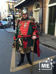 Mardi Gras Costumes, French Quarter, New Orleans, Samurai, Punk, Style, Fashion, Swag, Moda