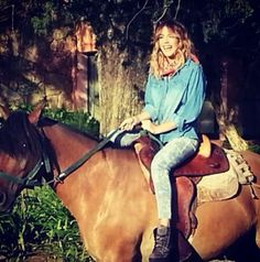 Martina Tini Stoessel on a horse !