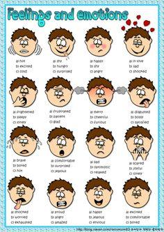 감정에 관한 영어 표현을 공부할 때 좋은 자료
