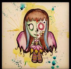 Spooksieboo Cute Zombie, Zombie Art, Zombie Cartoon, Wonderland Tattoo, Mary, Music, Musica, Musik, Muziek