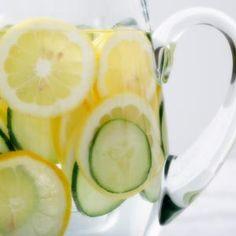 Polar Cucumber Melon Seltzer + Slice Cucumbers + Sliced Lemon = Easy Entertaining!