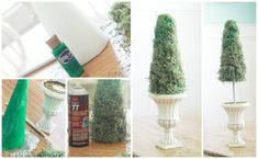I love an easy home decor project! DIY moss topiary
