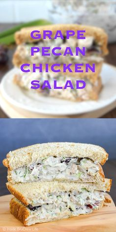 This easy chicken salad is loaded with fruit and nuts! Its delicious on bread salads or wraps. This easy chicken salad is loaded with fruit and nuts! Its delicious on bread salads or wraps. Pecan Chicken Salads, Chicken Salad Recipes, Yogurt Chicken, Salad Chicken, Recipe Chicken, Diced Chicken, Chicken Salad Recipe With Sour Cream, Chicken Salad Recipe With Grapes And Walnuts, Chicken Salad On Croissant