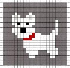Little Scottie dog pattern chart, great for making crochet corner to corner . : Little Scottie dog pattern chart, great for making crochet corner to corner blanket, or afgan. This could be used as a Graphgan pattern: Baby Knitting Patterns, Knitting Charts, Loom Patterns, Knitting Stitches, Needlepoint Stitches, Afghan Patterns, Crochet Patterns, Cross Stitch Cards, Cross Stitch Animals