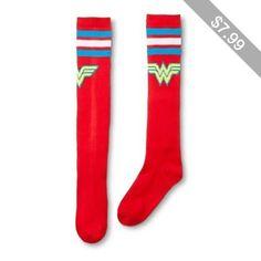 Wonder Woman Women's Varsity Knee High Sock Red