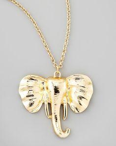 Jules Smith Safari Elephant Pendant Necklace - Neiman Marcus