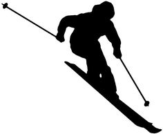 Image result for silhouettes of skiers