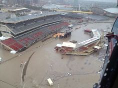 Calgary Stampede Rodeo Grandstand in the 2013 flood. O Canada, Alberta Canada, Water Flood, Canadian History, Worst Day, Natural Disasters, Global Warming, Ottawa