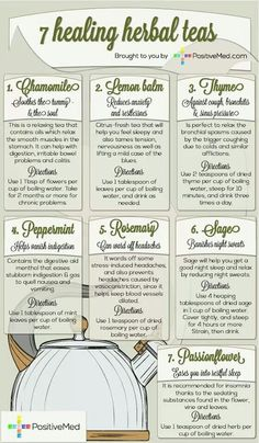 Health Remedies 7 Healing Herbal Teas - For centuries, people have relied upon natural remedies, such as healing herbal teas. Many people still turn to such remedies for minor issues. Natural Health Remedies, Natural Cures, Natural Healing, Natural Treatments, Cold Remedies, Natural Foods, Bloating Remedies, Holistic Remedies, Natural Beauty