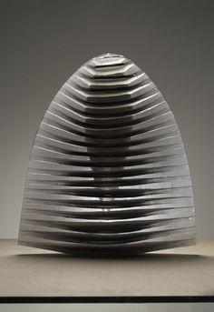 BODY IN DARK, by Vladimira Klumparova,  16x5x19, cast glass,cut,polished,sand blasted, 2005