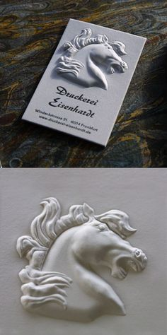 Amazing High Relief 3D Embossed Business Card
