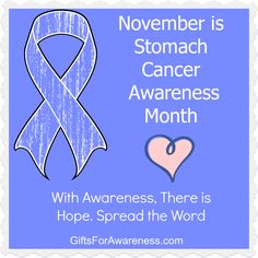 November is Stomach Cancer Awareness Month. Spread the word to bring awareness for this important cause. Shop periwinkle ribbon shirts and gifts for Stomach Cancer at www.giftsforawareness.com #stomachcancer #stomachcancerawareness #stomachcancerawarenessmonth