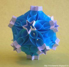 Nicolae Ene - origami: Bubble Drop kusudama by Miyuki Kawamura