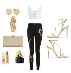 Designer Clothes, Shoes & Bags for Women Magdalena Frackowiak, Marc Jacobs, Yves Saint Laurent, Topshop, Gucci, Shoe Bag, Polyvore, Gold, Stuff To Buy