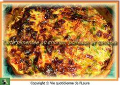 Tarte pimentée au chorizo, poireaux et tomates, Vie quotidienne de FLaure