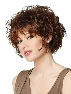 Top fashion Charming Wigs New Fashion Women Party Cosplay Short Sexy Full Hair Wig Human Hair Natural Looking + A Free Wig Cap