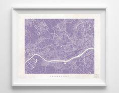 Frankfurt Street Map Print