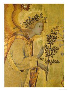 Annunciation, Detail of Gabriel  Giclee Print  by Simone Martini