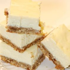 Cheesecake Bars.  Very good!  They were also very quick and easy to make!