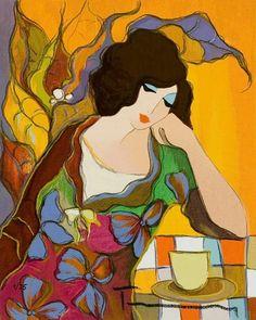 Online Shop Itzchak Tarkay Oil painting Art printing on the canvas, Home wall decoration, Lovely Maria beautiful lady, Jewish Art, Canvas Prints, Art Prints, Portrait Art, Love Art, Painting & Drawing, Modern Art, Contemporary Art, Illustration Art