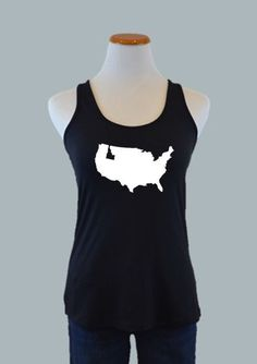Idaho, US Crossover Back Tank, Black – Team 44 Apparel