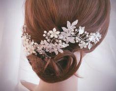 Wedding Hair Vine Bridal Head Piece Bridal Hair by AFondAffair