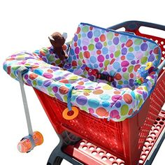 Grocery Cart Cover for Baby Shopping Portable Infant Cushy Seat Toddler Safety Cart Cover For Baby, Baby Shopping Cart Cover, Shopping Carts, Baby Doll Bed, Doll Beds, Highchair Cover, Comfortable Pillows, Mini Crib, Take A Seat