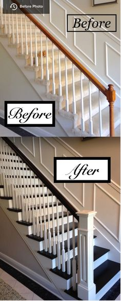 Stairs painted diy (Stairs ideas) Tags: How to Paint Stairs, Stairs painted art, painted stairs ideas, painted stairs ideas staircase makeover Stairs+painted+diy+staircase+makeover New Homes, Home Improvement, Staircase, Staircase Railings, Remodel, Stair Remodel, Home Improvement Projects, Home Remodeling, House Stairs