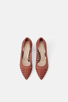 Block Heel Shoes, Zara Women, Leather Loafers, Weaving, Shoes Heels, Brick, Fur, Female, Shoes