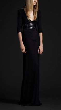 Adore this Burberry gown. It can easily be dressed up or down depending on the occasion.