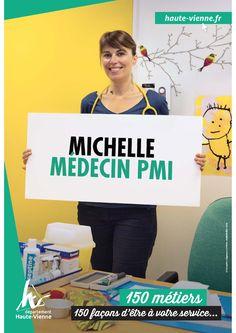 Michelle, médecin de PMI (Protection maternelle infantile) à Limoges. A l'écoute des parents et aux petits soins des enfants, elle accompagne les familles haut-viennoises au quotidien.
