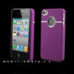 Obal na mobil Iphone 4 pevný fialový - 1