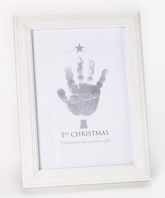 Another great find on #zulily! Baby's First Christmas Handprint Frame #zulilyfinds