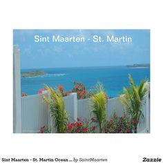 Sint Maarten - St. Martin Ocean Blue Seascape Postcard (sold 2 - Texas) Thank you!