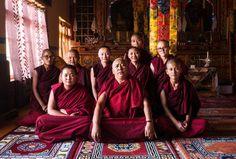 Dr Tsering Plamo with the young nuns
