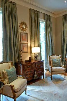 trendy home interior decorating window treatments Living Room Furniture, Living Room Decor, Silk Curtains, Hang Curtains, Drapery, Custom Drapes, Interior Decorating, Interior Design, Trendy Home