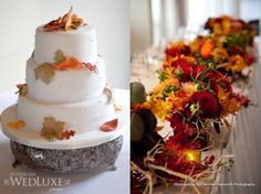 Fall wedding. Love the colours.