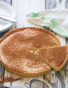Rich Creamy and Milk Tart made with an easy pastry crust