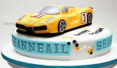 Car Craze - Sports Car Birthday Cake by Paige Fong, via Flickr