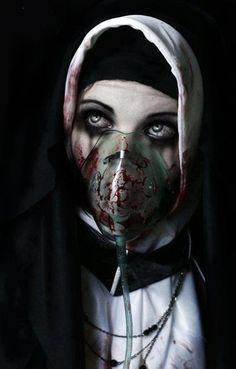 bloody oxygen mask