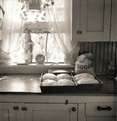 Bread baking day at the farmhouse ...... smell that breeze waft the aroma of that delicious delight ........