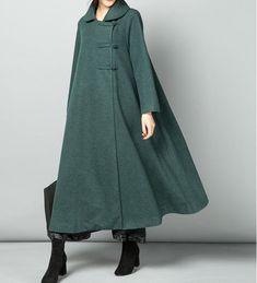 This item is unavailable : Red wool overcoat long maxi wool coats women winter coat Abaya Fashion, Modest Fashion, Fashion Outfits, Abaya Style, Winter Coats Women, Coats For Women, Wool Coats, Wool Overcoat, Women's Coats