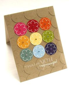 Color circles under stamped clear overlay