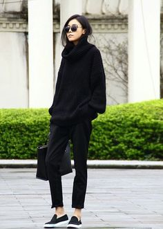 all black everythang. London.