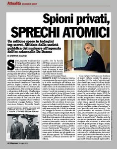 Spioni privati, sprechi atomici della #Sogin   #fb
